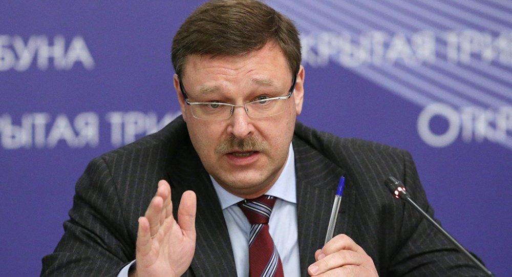 Konstantin Kosachev, presidente da Comissão de Assuntos Internacionais do Conselho da Federação (câmara alta do parlamento russo)