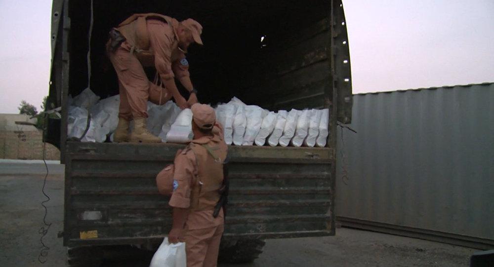 Ajuda humanitária russa para Aleppo