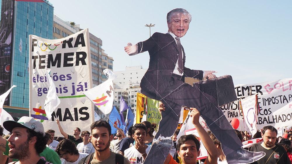 Manifestação contra Temer em Copacabana