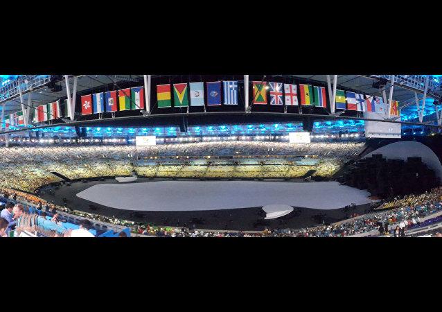 Maracanã se prepara para receber a cerimônia oficial de abertura da Olimpíada Rio 2016