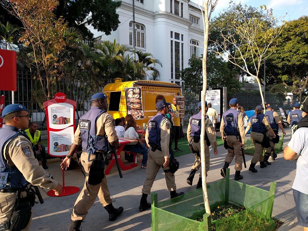 Polícia faz a segurança no Porto Maravilha