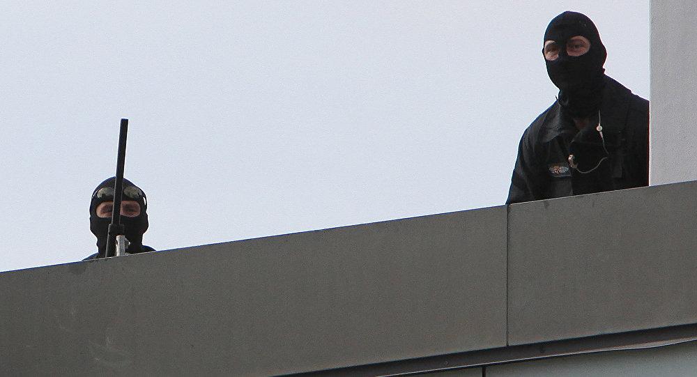 Atiradores da polícia alemã. Saarbrücken, Alemanha (Arquivo)