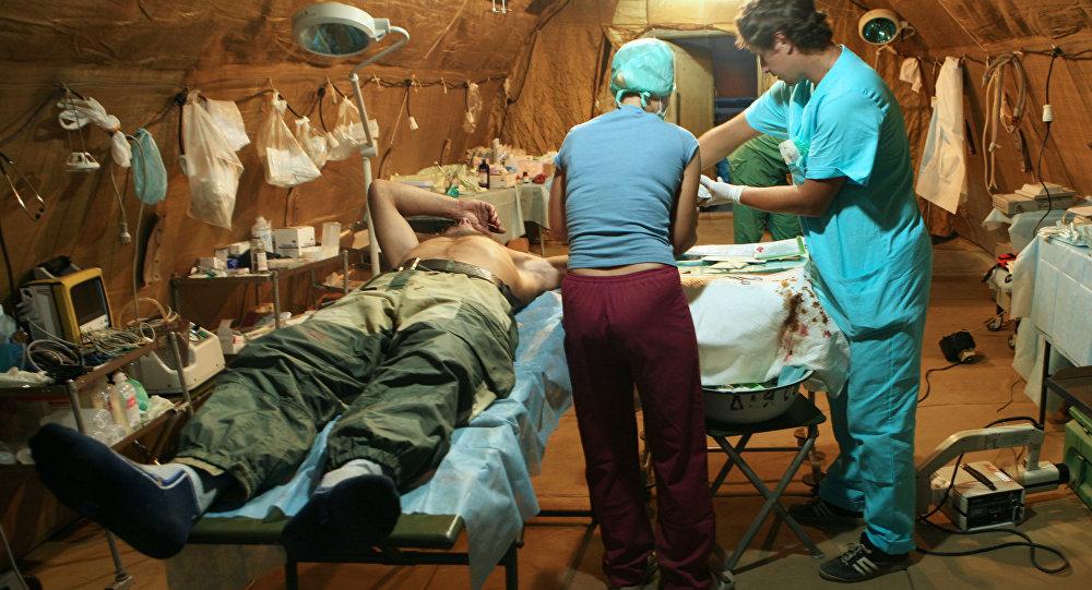 Operação no hospital de Tskhinvali, Ossétia do Sul (foto de arquivo)