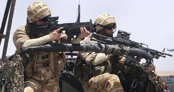 Soldados britânicos atuando na Síria