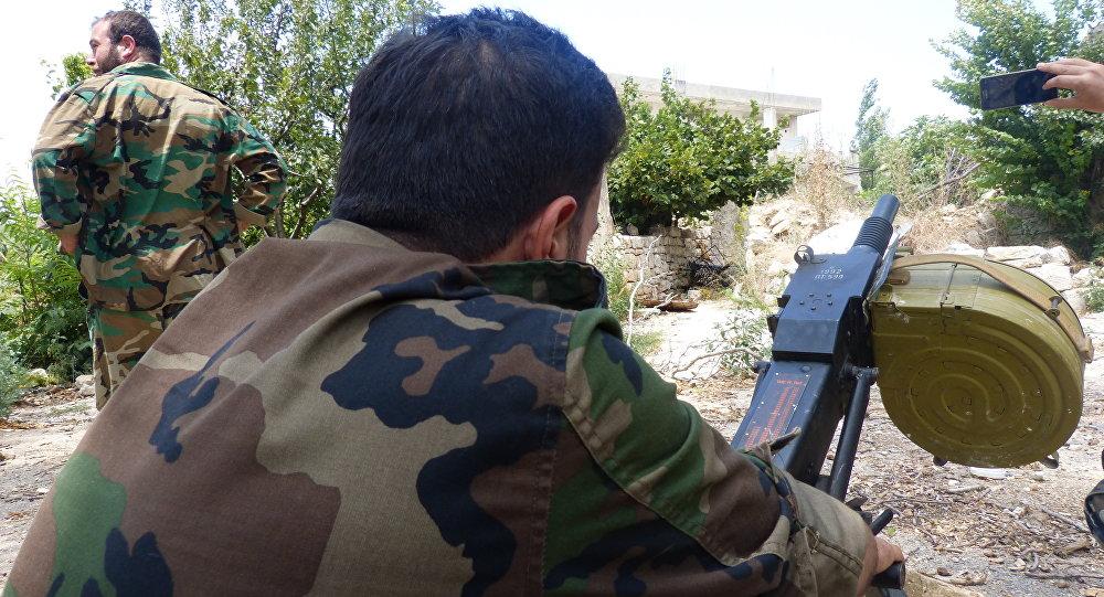 Militares do exército em Latakia