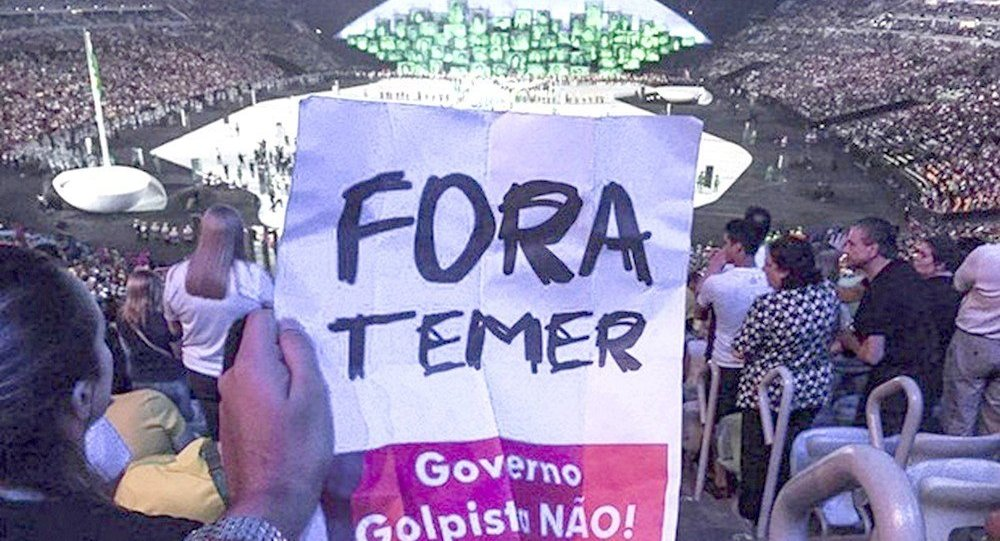 Fora Temer na abertura dos Jogos Rio 2016