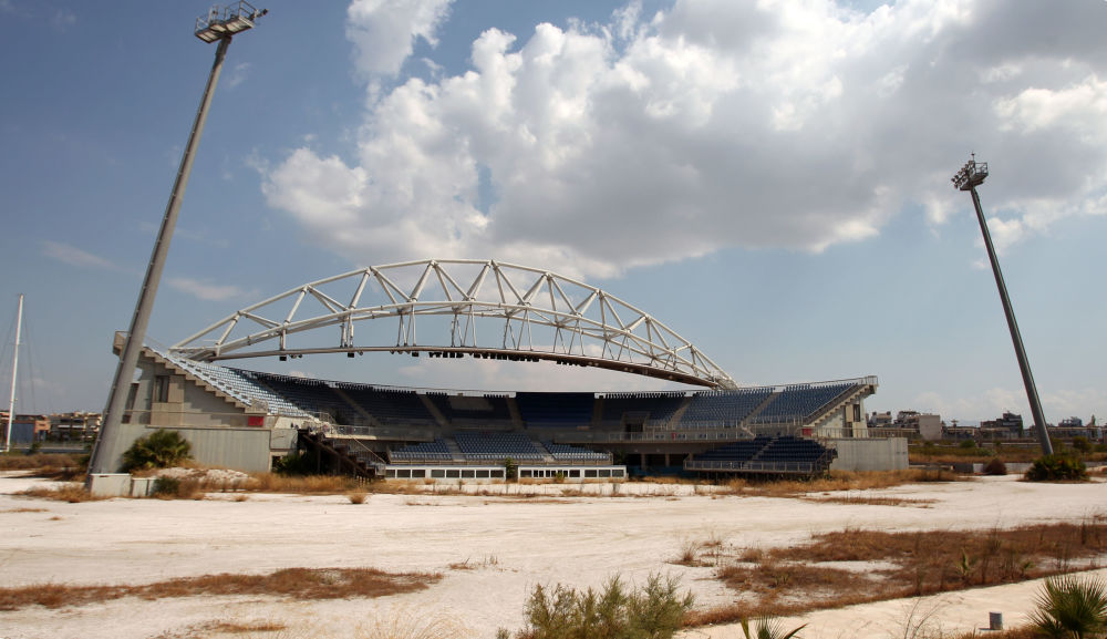 Estádio Olímpico de vôlei de praia no sul de Atenas
