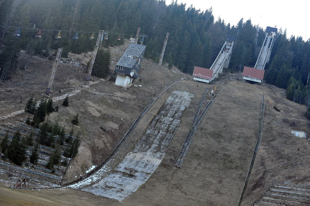 Plataformas para saltos de esquis em Sarajevo