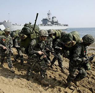 Exercícios Foal Eagle com militares de EUA e Coreia do Sul