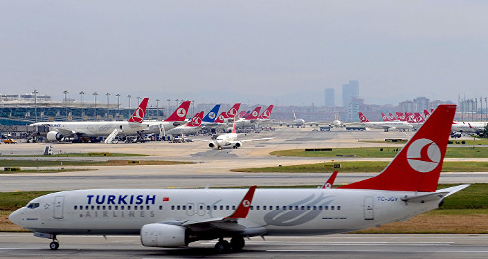 Avião da Turkish Airlines.