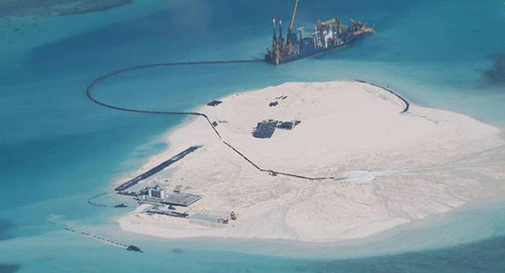 Construção de ilhas artificiais chinesas no mar da China Meridional