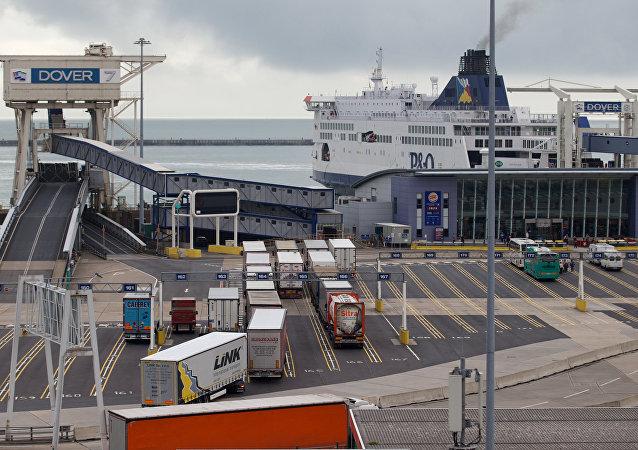 Porto de Dover, na Inglaterra, onde os traficantes foram detidos com 100 kg de cocaína