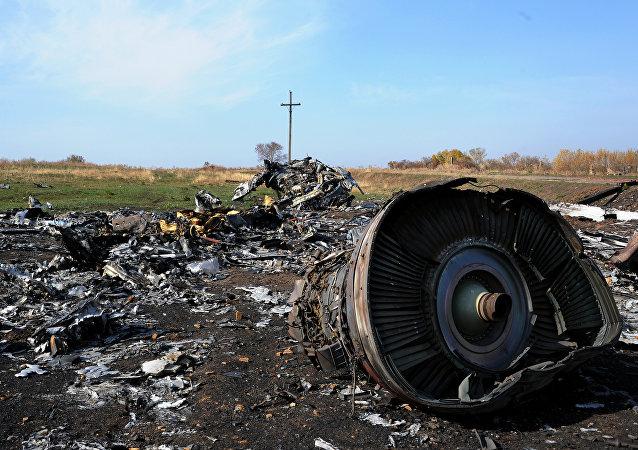 Destroços do voo MH17 da Malaysian Airlines
