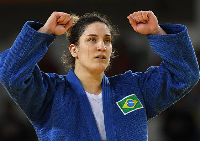 Judoca Mayra Aguiar conquistou a terceira medalha do Brasil nestas Olimpíadas