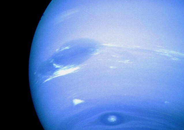 Netuno, a imagem foi feita pela nave robótica da NASA