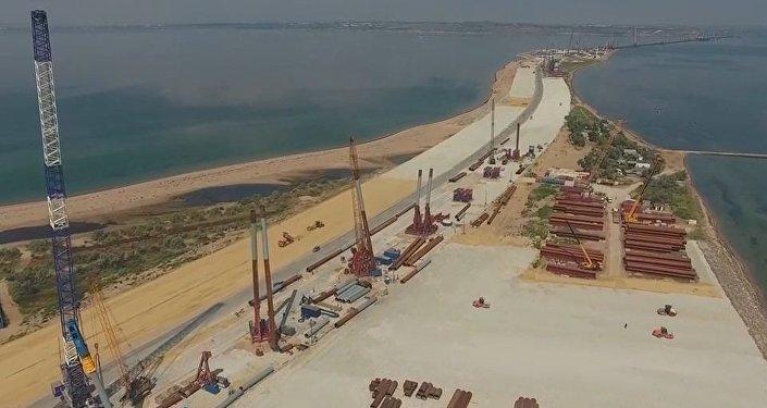 Vista espetacular da ponte da Crimeia