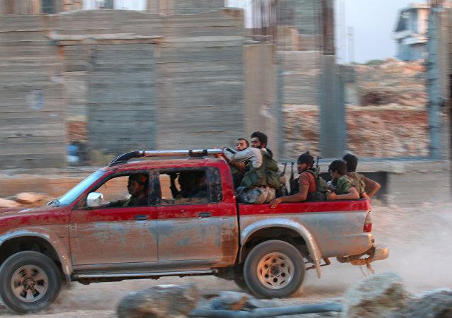 Militantes da Jabhat Fateh al-Sham, a antiga Frente al-Nusra