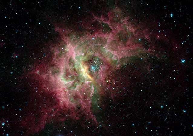 Imagem da galáxia na Via Láctea feita pelo telescópio da NASA em 2004