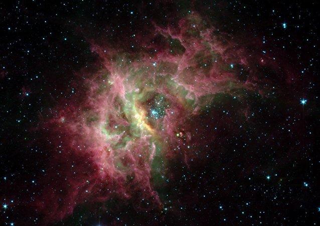 Imagem da galáxia na Via Láctea feita pelo telescópio da NASA