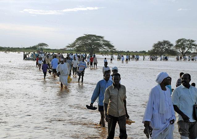 Enchentes no Sudão em 2007 (arquivo)