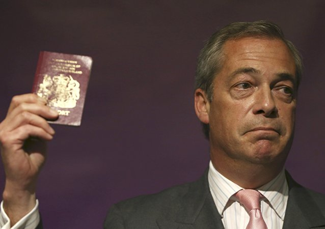 Líder do Partido de Independência do Reino Unido (UKIP), Nigel Farage