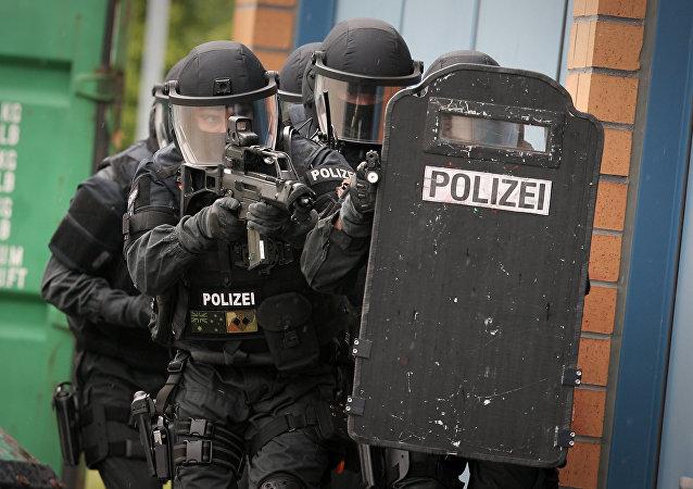 Agentes de polícia da Alemanha em Mainz (arquivo)