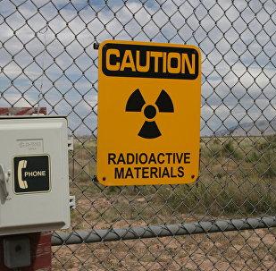 Símbolo de risco de radiação (foto de arquivo)