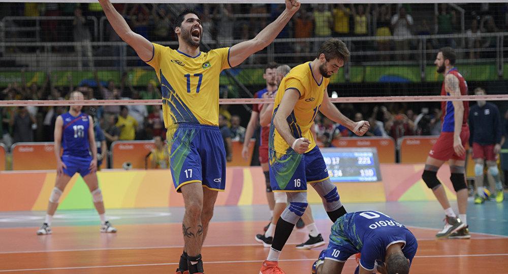 Brasil vence a Rússia e vai à final no vôlei masculino