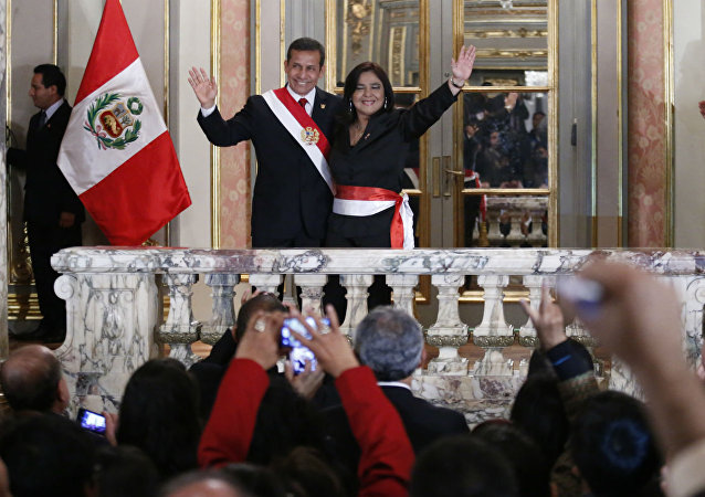 Ollanta Humala e Ana Jara, presidente e premiê do Peru.