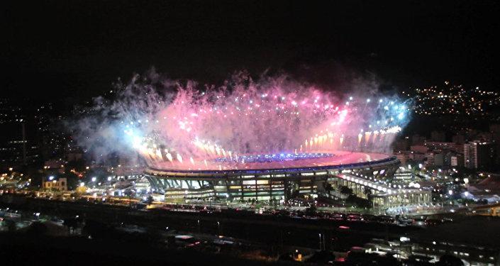 Fogos no Maracanã