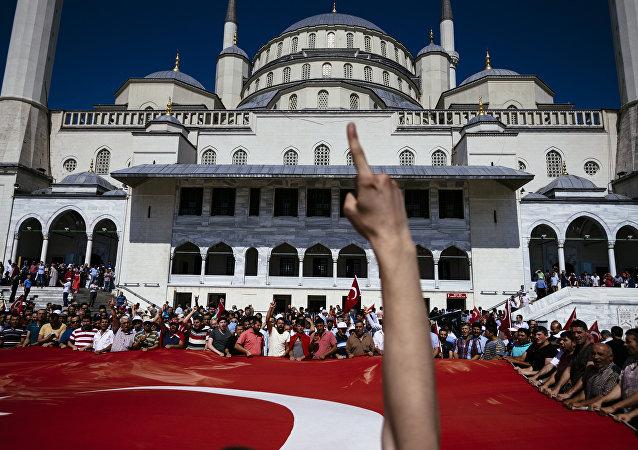 Manifestação pró-Erdogan em Istambul