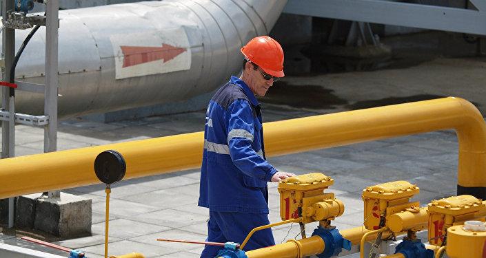 Estação de transporte de gás exportado na Rússia
