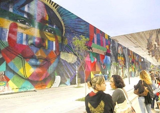 Grafite de Eduardo Kobra na zona portuaria do Rio entra para o Guinness