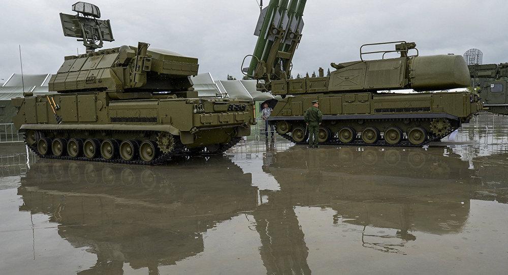Sistema de defesa antimíssil Buk-1M, região de Moscou, Rússia (foto de arquivo)