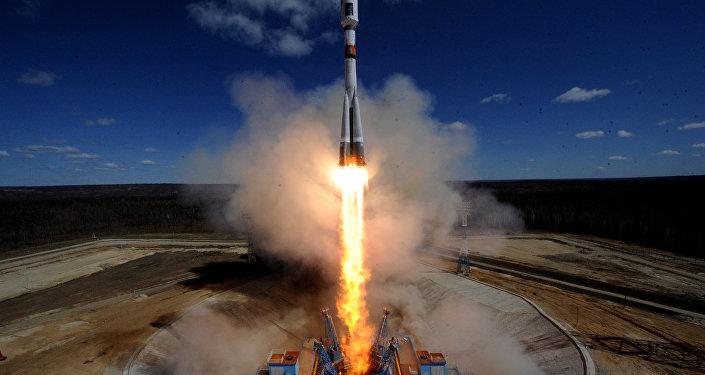 Lançamento da nave espacial Soyuz