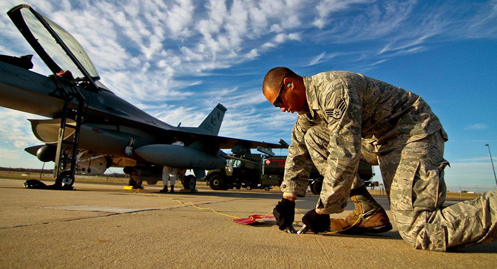 Um militar da Força Aérea dos EUA