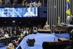 Dilma em discurso na Tribuna