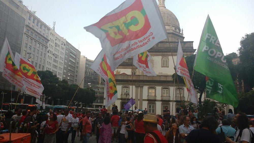 Manifestação contra o impeachment no Rio de Janeiro