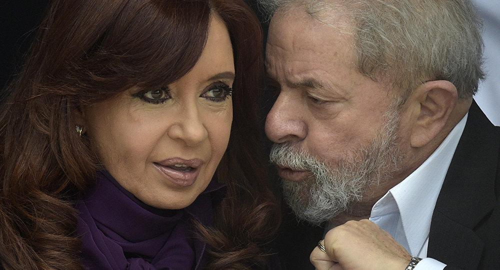 Ex-presidente da Argentina com Luiz Inácio Lula da Silva em 9 de setembro de 2015