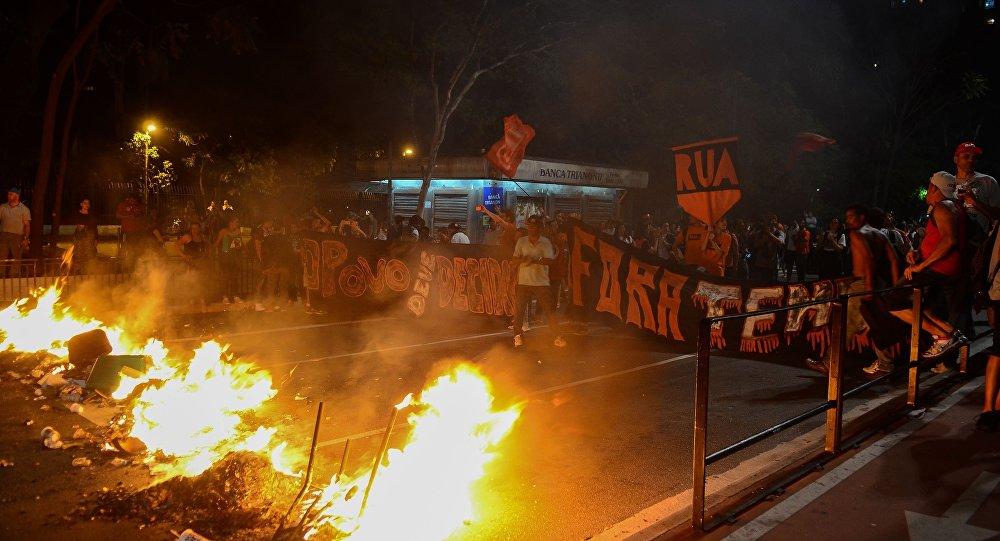 Manifestação Fora Temer na Avenida Paulista