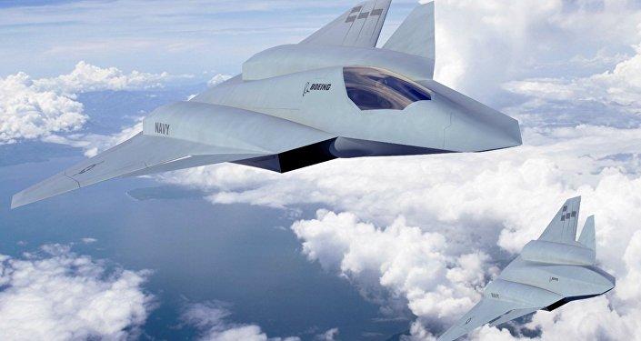 Conceito de caça F/A-XX apresentado pela Boeing em 2013