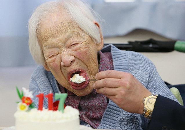 Misao Osaka, a pessoa mais velha do mundo.