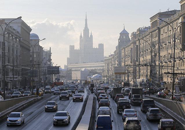 Trânsito em Moscou
