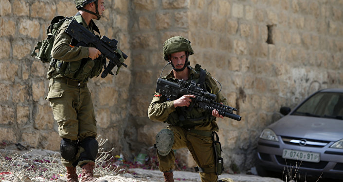 Soldados israelenses na Cisjordânia, 24 de agosto de 2016