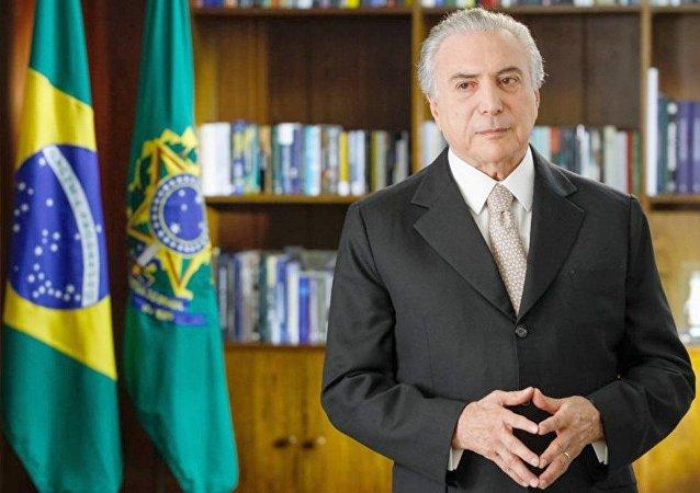 Michel Temer, presidente do Brasil, durante pronunciamento (arquivo)