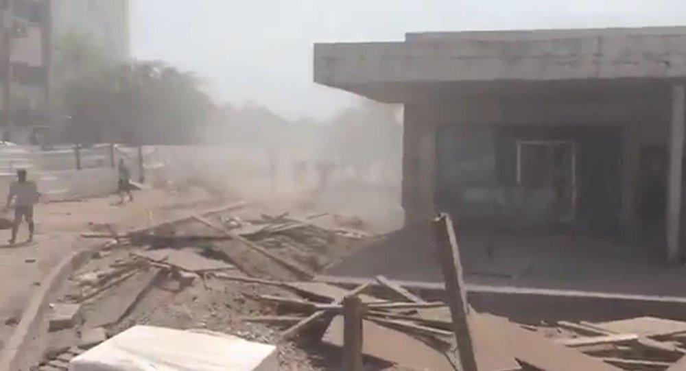 Screenshot de um vídeo do Twitter