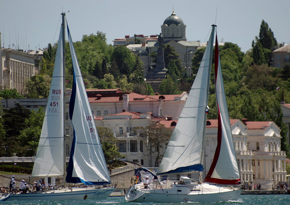 Regata da Escola Naval Nakhimov, que coincide com o 233º aniversário da Marinha do Mar Negro