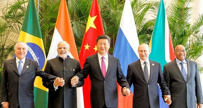 Presidente Michel Temer durante reunião do Brics, na China