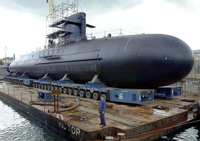 Submarino da classe Scorpene fabricado pela empresa francesa de construção naval DCNS