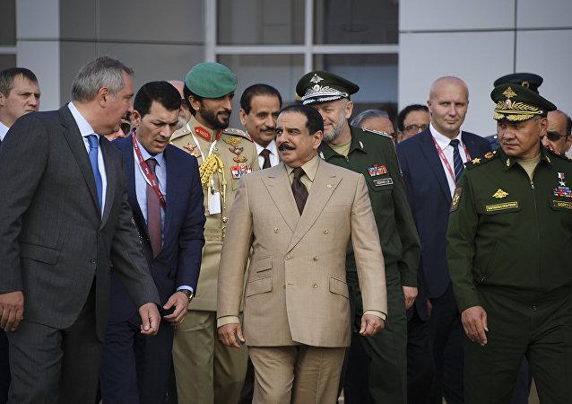 Rei Hamad bin Isa Al Khalifa em visita à Rússia